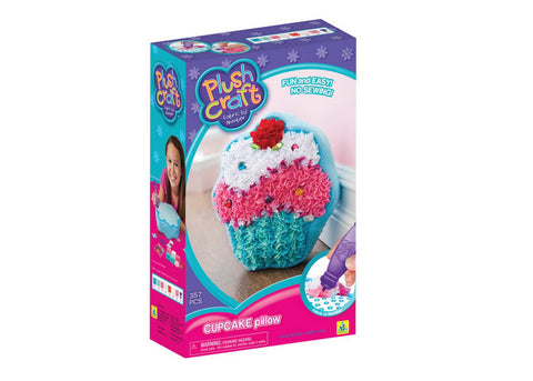Plushcraft Fabric by Number Cupcake Pillow Kit
