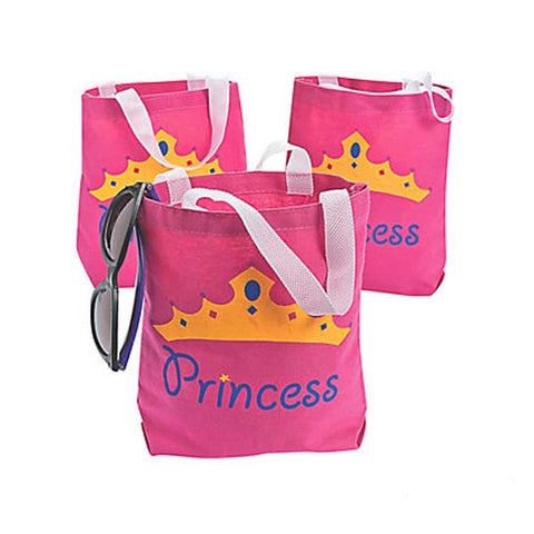 Princess Canvass Tote Bags (4 ct)