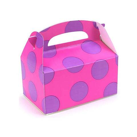 Purple Polka Dots Favor Box (8 ct)