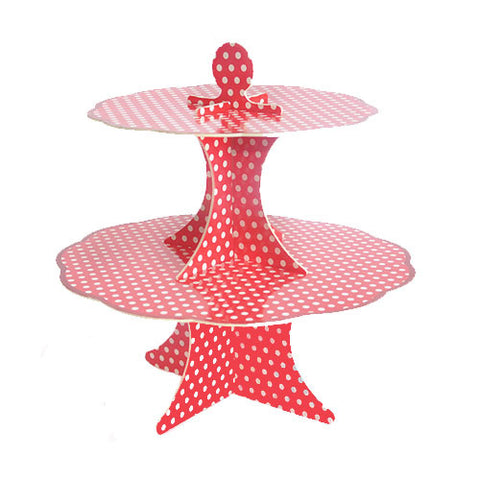 Red Dots Cupcake Stand