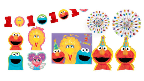 Sesame Street 1st Birthday Decorating Kit My Little Party Shop