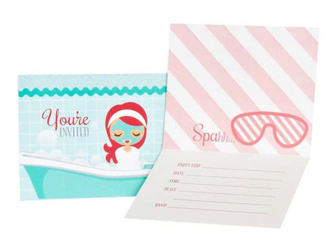 Spa Party Invitations (8 ct)