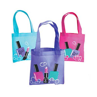 Spa Party Mini Tote Bags (6 ct)
