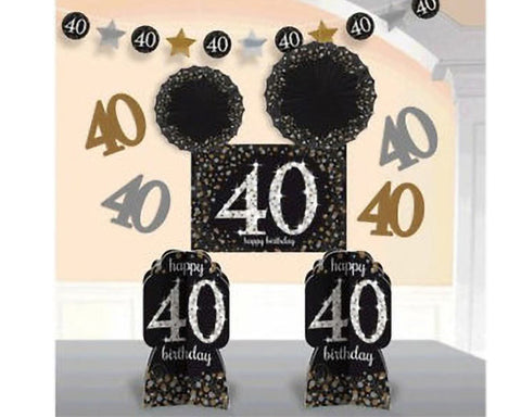 Sparkling 40th Room Decorating Kit