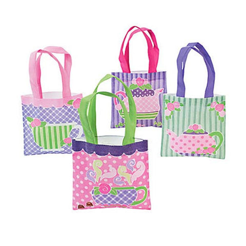 Tea Party Mini Tote Bags (8 ct)