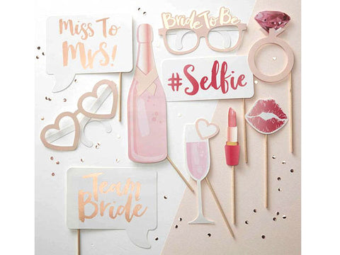 Team Bride Party Photo Booth prop sticks