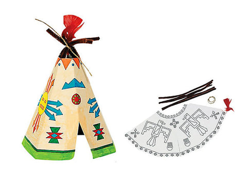 Color your Own Teepee Craft Kit (8 ct)