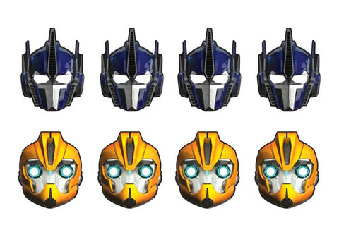 Transformers party masks