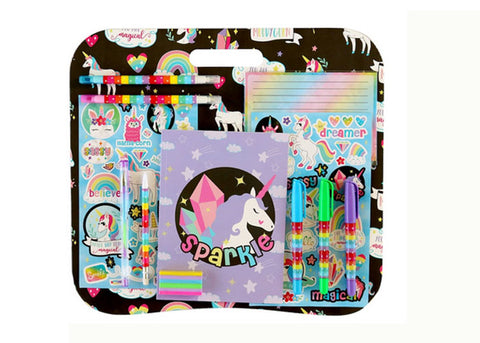 Unicorn Lap Desk Stationery Set