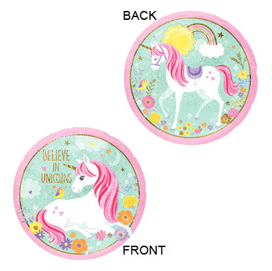 Magical Unicorn Round Foil Balloon