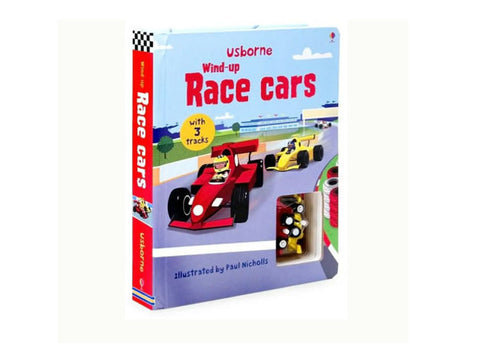 Usborne Wind Up Racing Cars Book
