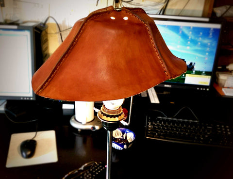 Handmade Leather Lampshade