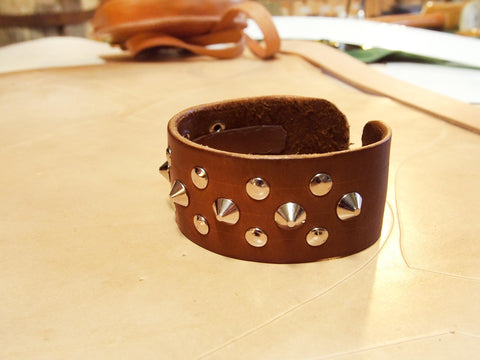 Triple Row Studded Wristband