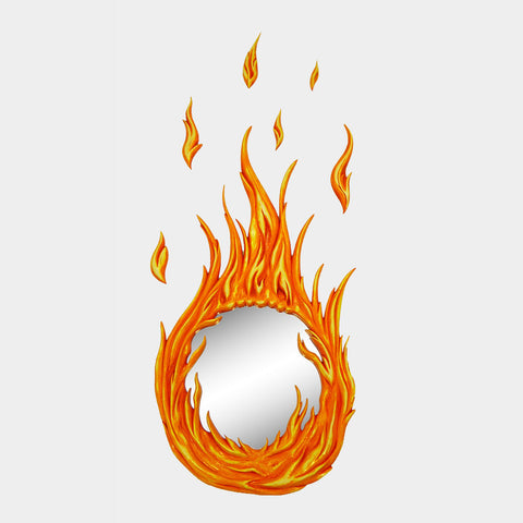 Flame Wall Mirror