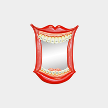 Load image into Gallery viewer, Smiling Mouth Wall Mirror with braces