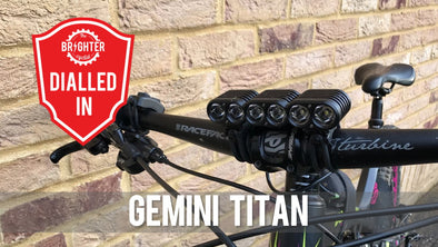 2017 Gemini Titan 4000 Lumens Review - TheBrighterCyclist.co.uk