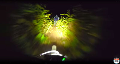 POV Night Ride: Gemini Titan 4000 and Duo 1500 Lumens with DailyMTBRider