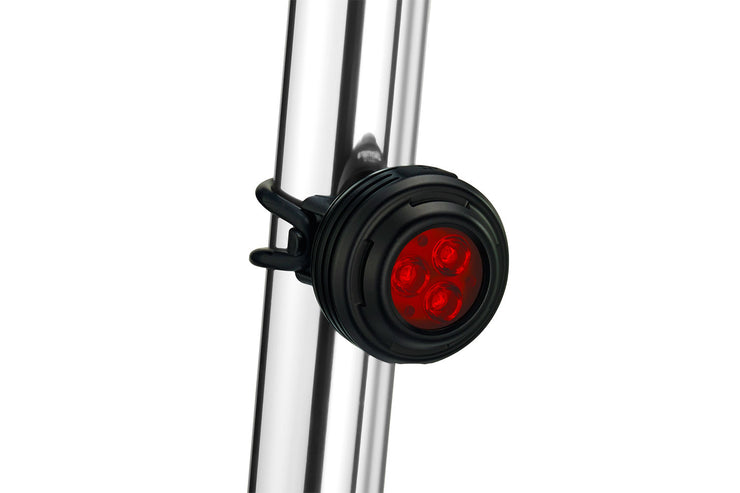 Gemini Iris 180 Lumens Tail Light mounted on a bicycle seat post