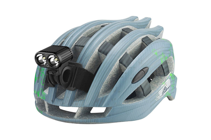 Gemini Duo 2200 Multisport mounted on a bicycle helmet