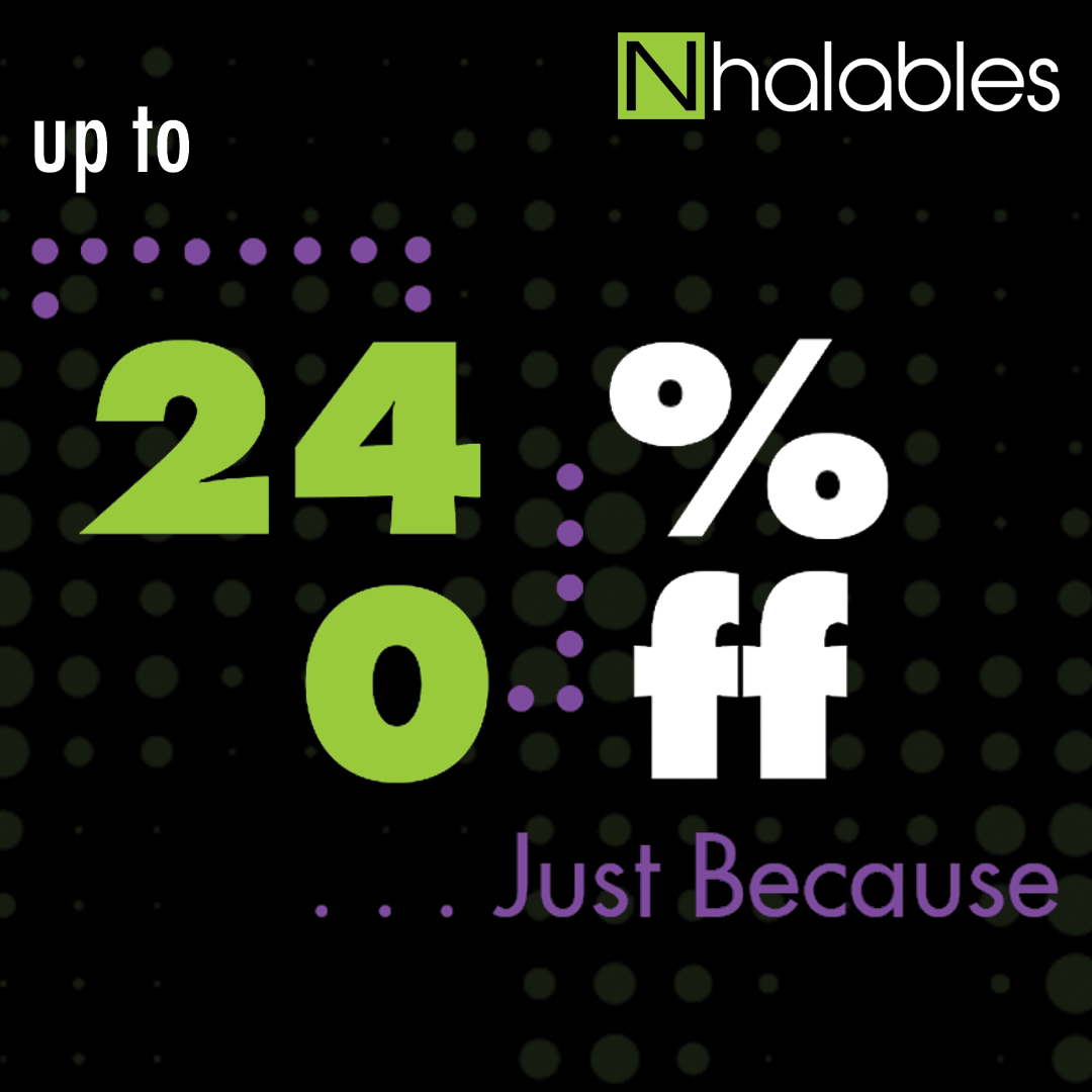 12-24% Off Almost Everything in the store today…Just Because