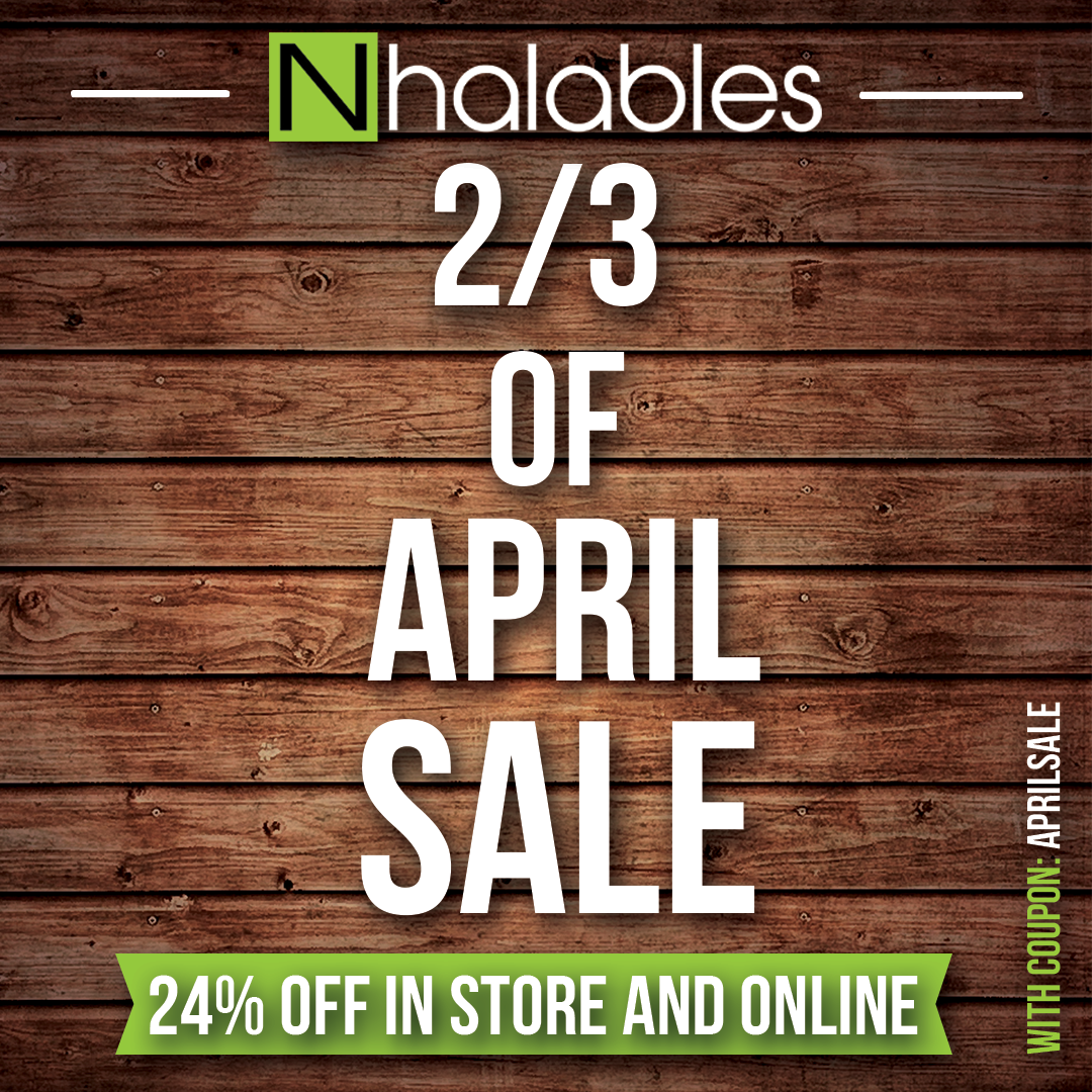 Nhalables Social Posts showing a Ad for our 2/3rd of april sale.