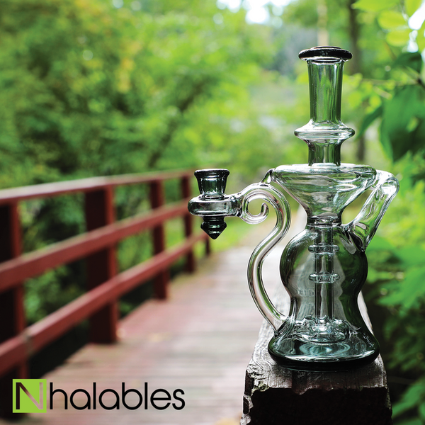 Hawk Glass Smoked Recycler
