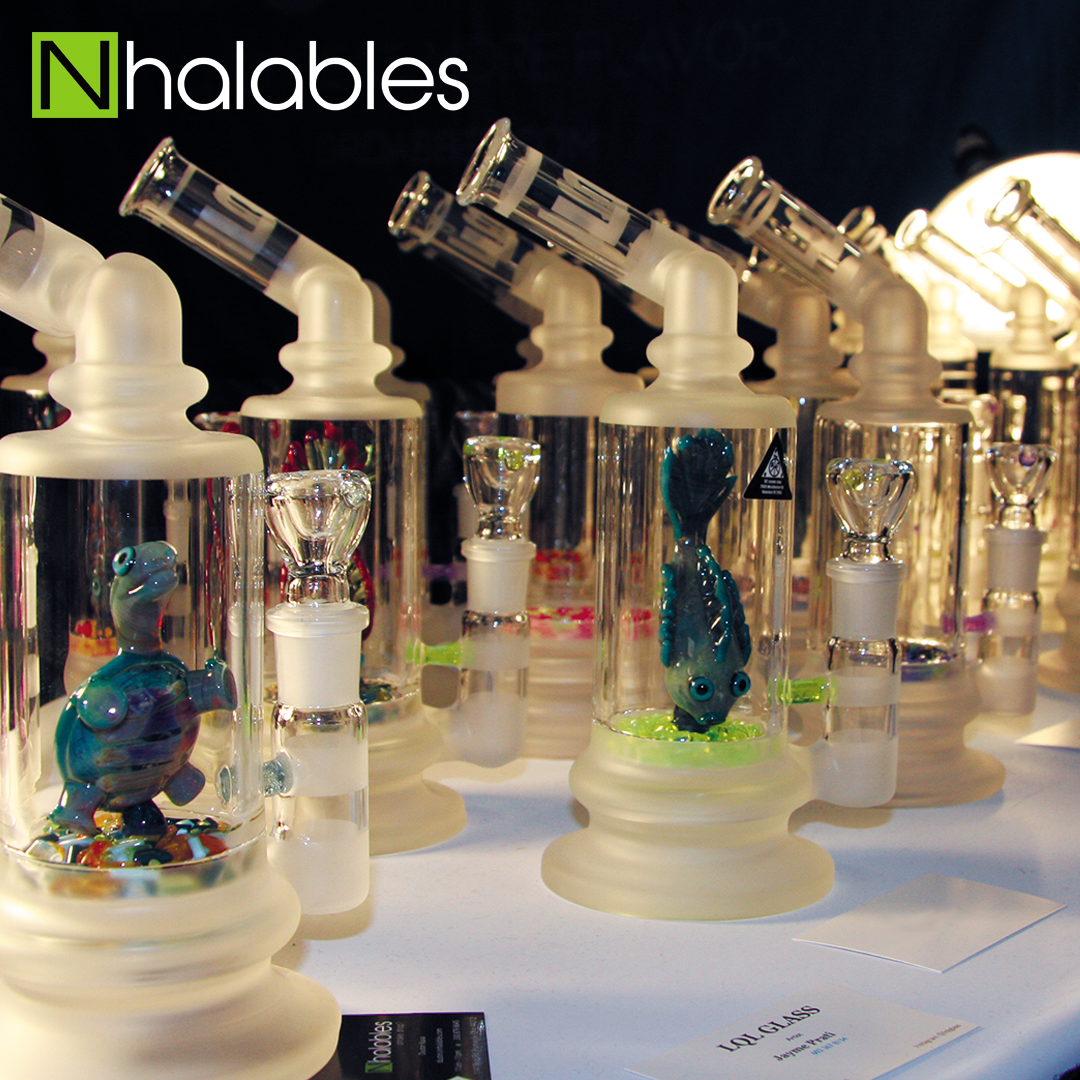 Nhalables Social Post showing LQL Glass (Arizona) American Glass Expo Vegas Booth 2017