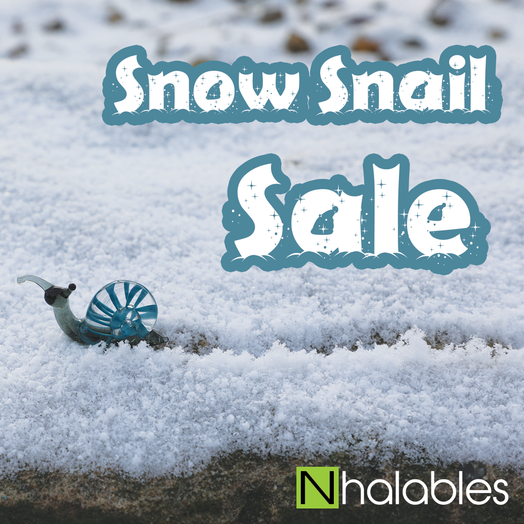 Nhalables Headshop Winter Sale Image.  15% off with coupon snow snail.