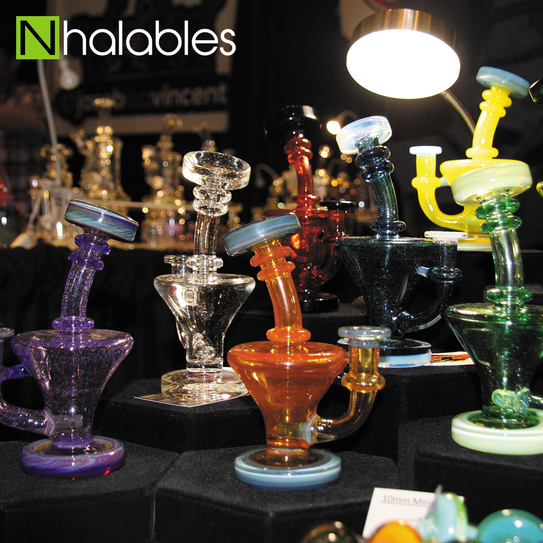 Nhalables Social Post showing Zombie Hand Studios Glass Booth at American Glass Expo Vegas 2017