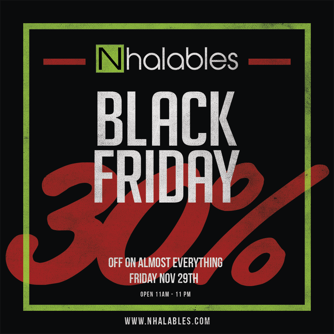 Nhalables Social image showing a black Friday 2019 add