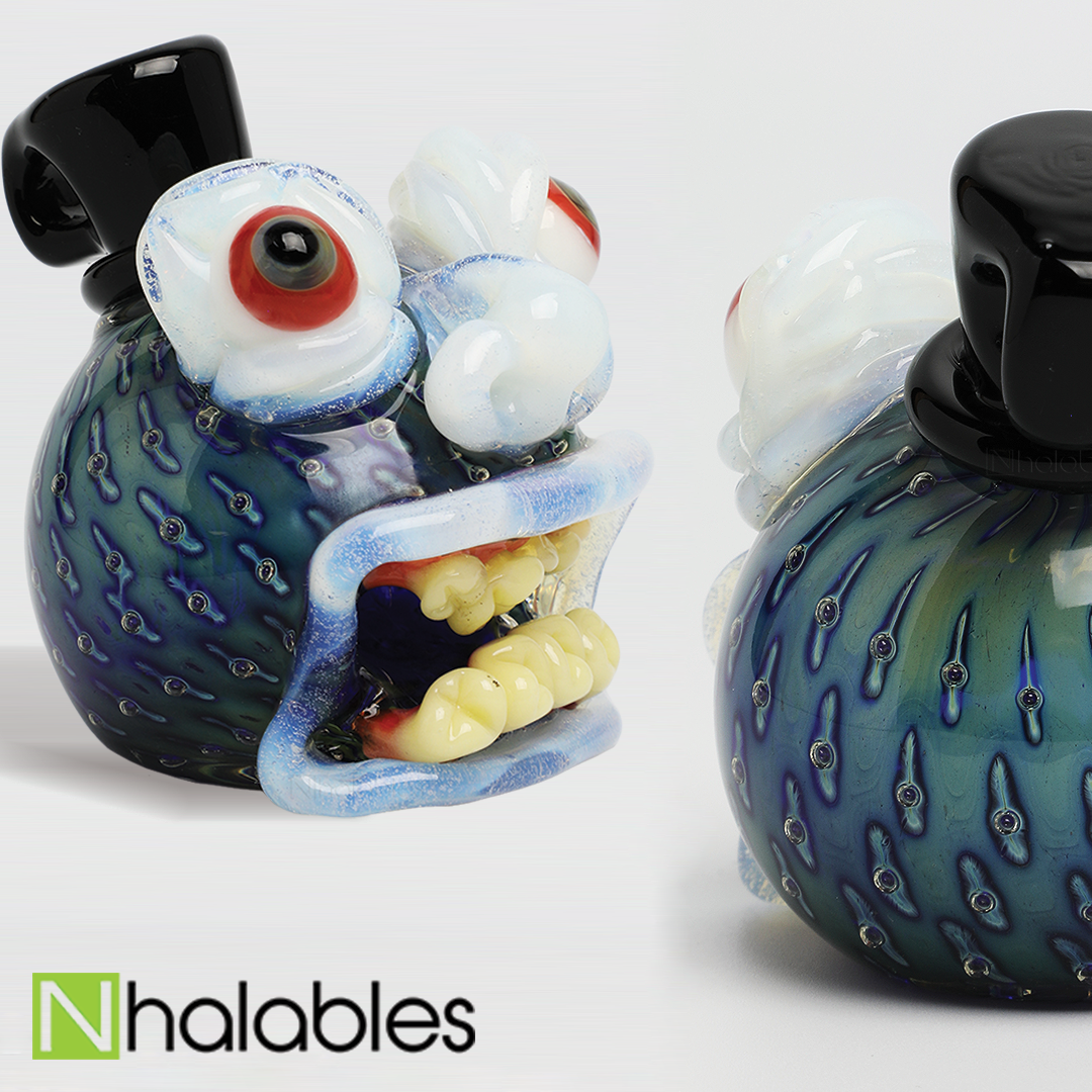 Nhalables Social Posts for a Collaboration Pendant between Frosty Fresh and Whitefire Glass