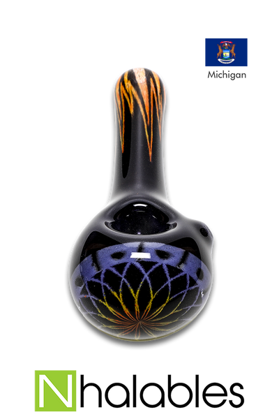 Nhalables Product image for a Reticello Hand-pipe by Michigan based artist Hoffman Glass (Steve Hoffman)