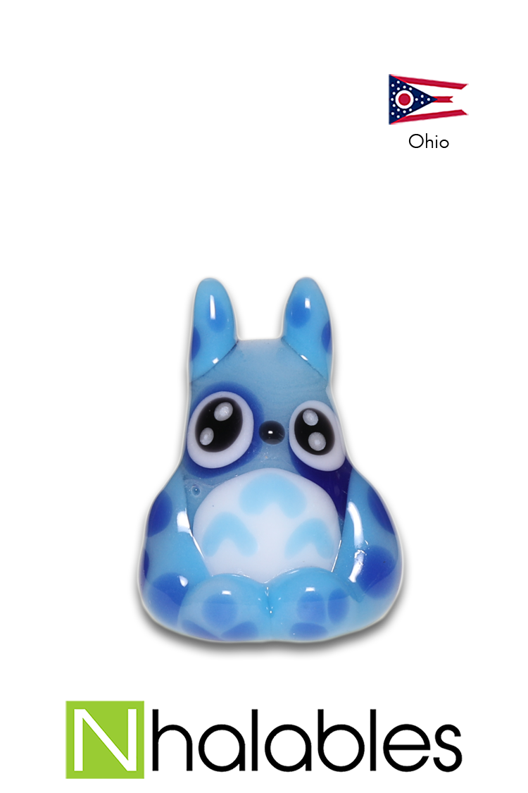 Nhalables Product Image for a Kawaii Glass(Ohio) Glass Totoro Pendant Blue
