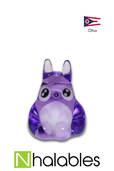 Nhalables Product Image for a Kawaii Glass Glass Totoro Pendant Purple