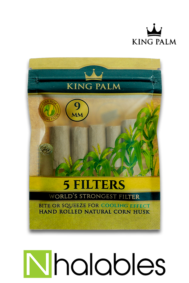 Nhalables Product Image for a 5 pack of King Palm - Corn Husk Filter Tips