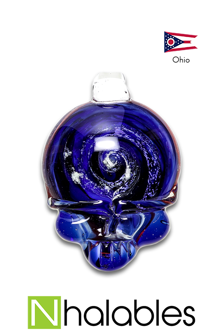 Nhalables Product image of the RED/WHITE/BLUE Steelie Cosmic Skull Pendant