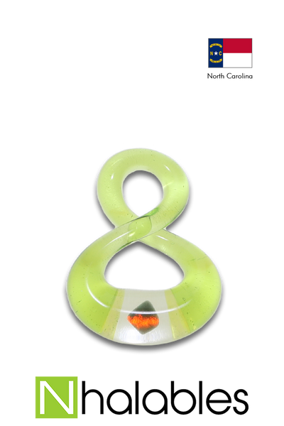 Nhalables Product Image for a Green Infinity Pendant with Opal by Natey Biskind (Nateylove) of Asheville NC