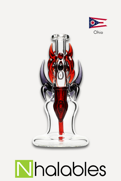 Nhalables Product Image for a Redbone Glass Clear / Purple / Red Dragon Slayer Rig