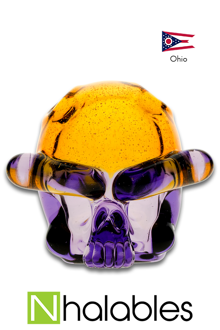 "Nhalables Product Image for a ""Tuskum Glass"" Skull Pendant *CFL Potion / Terps"