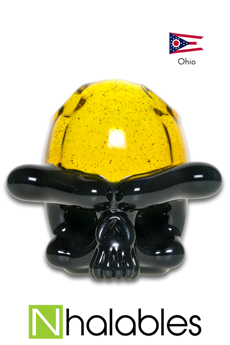 "Nhalables Product Image for a ""Tuskum Glass"" Skull Pendant *CFL UV Gray / Terps"