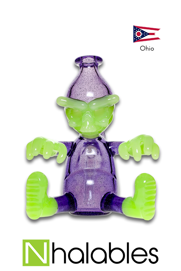 "Nhalables Product Image for a Antidote and Elixir Colored ""Worker Rig"" by Cleveland based Tuskum Glass"