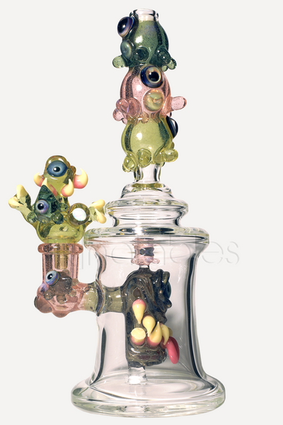 Lacorte Lampworking + Superstar Orbitron - Bottle Monster/Space Jelly Collaboration *CFL