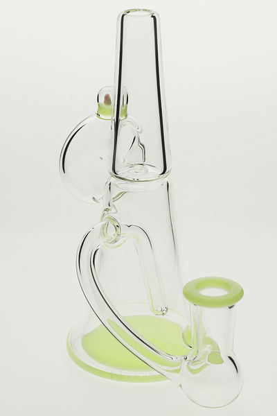 Nhalables Downstem Image for a MeadeMade Glass Beldar with Green accents