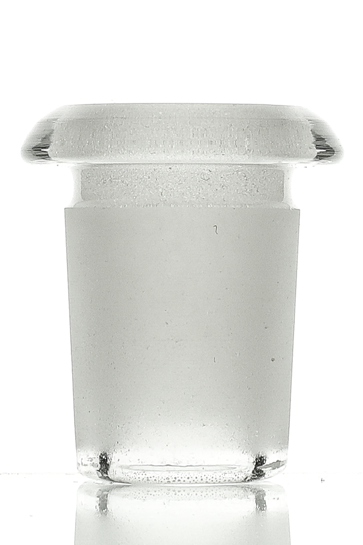Nhalables Actual Product Image for a 14mm to 18mm Sandblasted Flush Mount Glass Adapter