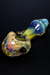 Nhalables Fumed view Image for Catfish Glass (Ohio, Old Country Blew) Fumed Implosion Hand Pipe with colored accents