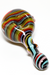 Nhalables Actual Angle view image for a Abstract Cap Dark Rainbow Hand Pipe by JEM GLASS (Jamie, Ozarks Missouri)