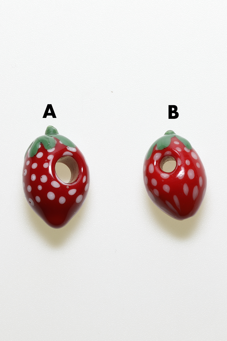 Nhalables Product View Image for Ohio based Kawaii Glass Strawberry Glass Beads