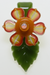 Nhalables Front View Image for a Mars Glass Leaf Pendant with Kinectic Flower