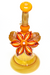 Nhalables Flower Shot 2 View Image for a Orange Mars Glass Solo Spinner Kinetic Flower Rig
