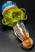 "Nhalables Angled Fumed View Image showing a Honeycomb Spoon with a Fumed tip by Ohio based ""Tri Pawd Glass Works"""